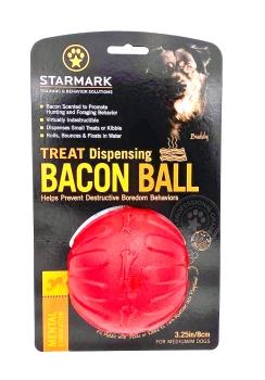 Starmark Treat Dispending Bacon Ball Large 8cm
