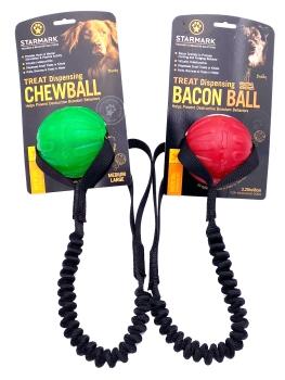 Starmark Treat Dispensing Chew Ball mit Bungee large