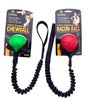 Starmark Treat Dispensing Chew Ball mit Bungee small