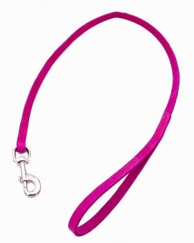 Leine Fettleder 12mm Pink mit Handschlaufe genäht